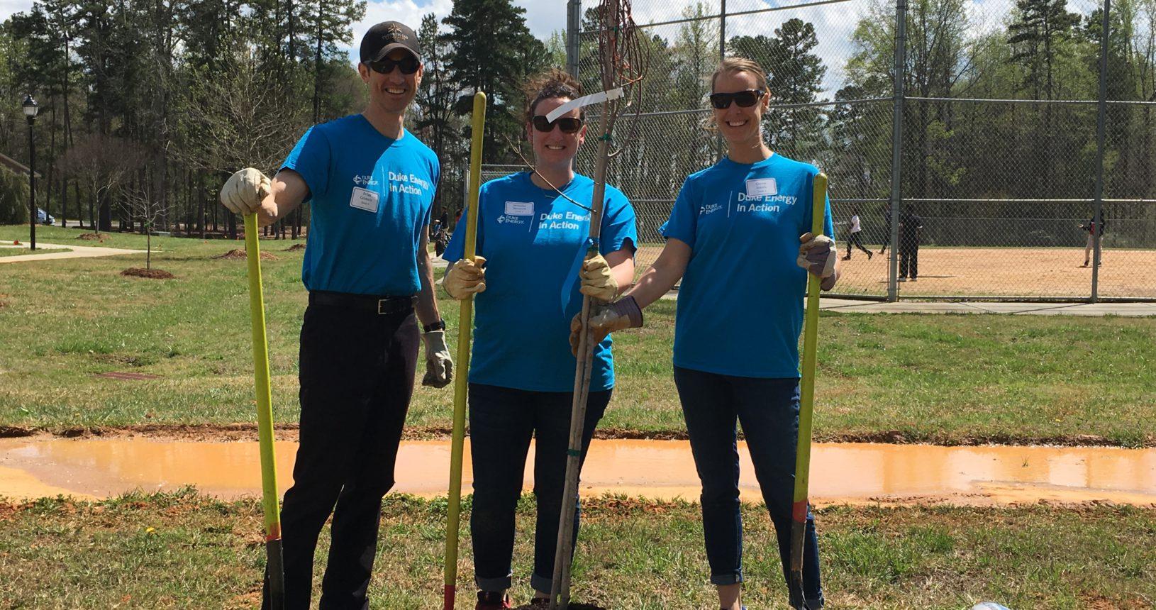 Briarwood Park Planting Trees Charlotte Nonprofit