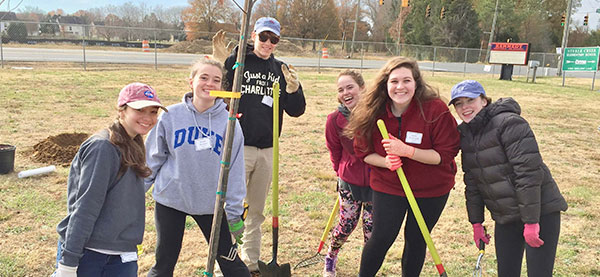 Kennedy Middle School Planting Trees Charlotte Nonprofit