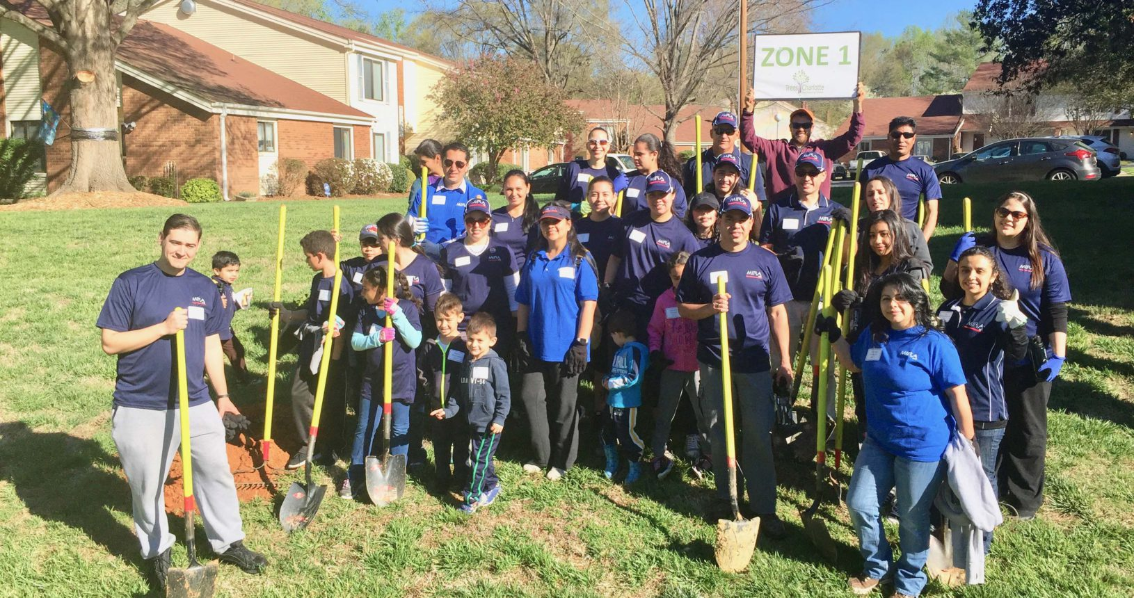 Stonehaven NW Common Area Planting Trees Charlotte Nonprofit