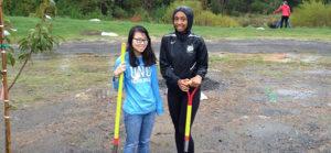 Winget Park Elementary School Planting Trees Charlotte Nonprofit